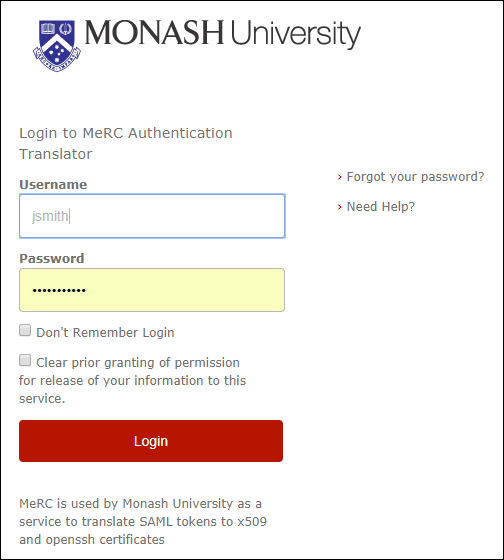 Screenshot of you organisation's login